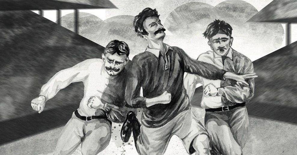 Первый футбольный матч англичан с россиянами